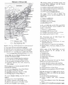 US History Multiple Choice Quiz Unit 14/37 - REGENTS ALIGNED
