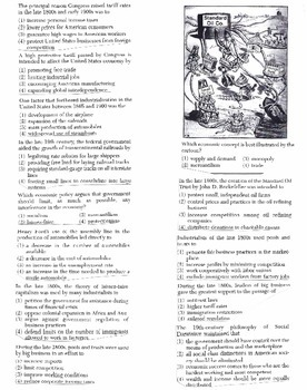 US History - Multiple Choice Regents Questions Quiz (Unit 17 of 37)
