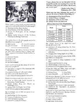US History Multiple Choice Quiz Unit 29/37 - REGENTS ALIGNED