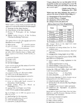 US History - Multiple Choice Regents Questions Quiz (Unit 29 of 37)