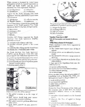 US History Multiple Choice Quiz Unit 34/37 - REGENTS ALIGNED