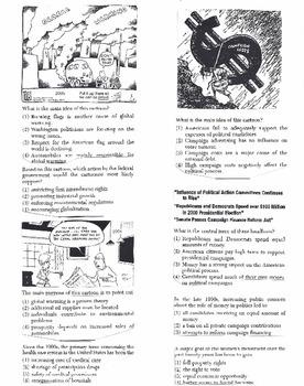 US History Multiple Choice Quiz Unit 37/37 - REGENTS ALIGNED