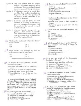 Global History - Multiple Choice Quiz - 9th grade (2nd sem) Final (Units 16-20)