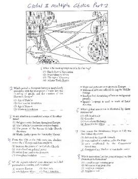 Global History Multiple Choice Quiz - 9th grade (2nd sem)
