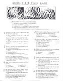 Global History - Multiple Choice Quiz - 9th grade Final Exam (Units 1-20)