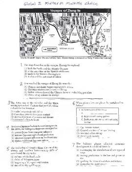 Global History Multiple Choice Quiz - 9th grade (2nd sem) Midterm (Units 11-15)