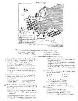 Global History - Multiple Choice Quiz - 10th grade Final Exam (Units 21-40)