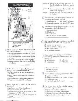 Global History - Multiple Choice Quiz - 10th grade (1st sem) Mid (Units 21-25)