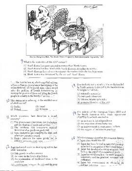 Global History - Multiple Choice Quiz - 10th grade (2nd sem) Final (Units 36-40)