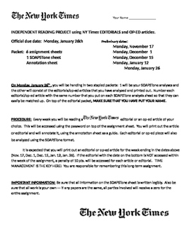 NEW YORK TIMES: an analysis project   PART I