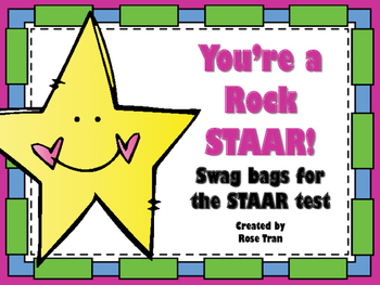**FREEBIE** You're a Rock STAAR! Swag Bags for the STAAR t