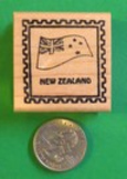 NEW ZEALAND Country/Passport Rubber Stamp
