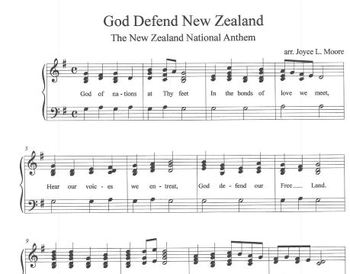 NEW ZEALAND NATIONAL ANTHEM Easy Tone Chimes & Bells GOD DEFEND NEW ZEALAND