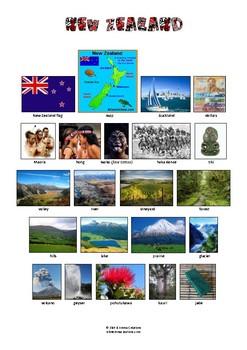 NEW ZEALAND - VOCABULARY - PICTIONARY