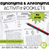 Synonyms and Antonyms Activity Booklets