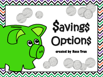 NEW  $avings Options FINANCIAL LITERACY Sorting Activity (TEKS 4.10C)