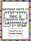 NEW enVision Math 2.0 2nd Grade Topic 12 Resource Pack Mea