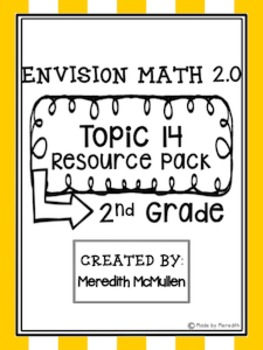 NEW enVision Math 2.0 2nd Grade Topic 14 Graphing Resource Pack
