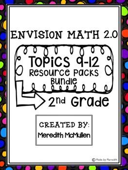 new envision math 2 0 2nd grade topics 9 12 resource pack bundle. Black Bedroom Furniture Sets. Home Design Ideas