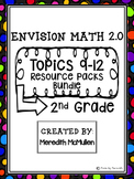 NEW enVision Math 2.0 2nd Grade Topics 9-12 Resource Pack Bundle