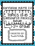 NEW enVision Math 2.0 Aligned 2nd Grade Topics 13-15 Resou