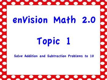 NEW! enVision Math 2.0 Topic 1 Flipchart Grade 1