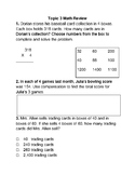 NEW enVision Math 2.0 Topics 3 and 4 Review Questions