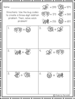 NEW enVision Math 2.0 2nd Grade Topic 10 3-Digit Addition Resource Pack