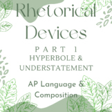 NEW for 2019 Lang and Comp: Rhetorical Devices Part 1, Hyperbole/Understatement