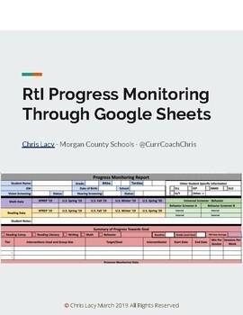 NEW Version - Response to Intervention Progress Monitoring Workbook