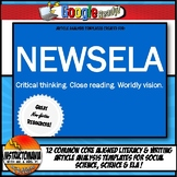 NEWSELA Current Event Analysis Common Core Worksheets & Gr