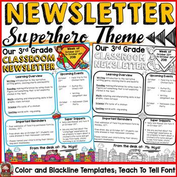 NEWSLETTER EDITABLE TEMPLATES: SUPERHERO THEME