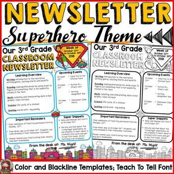 NEWSLETTER EDITABLE TEMPLATES: SUPERHERO THEME