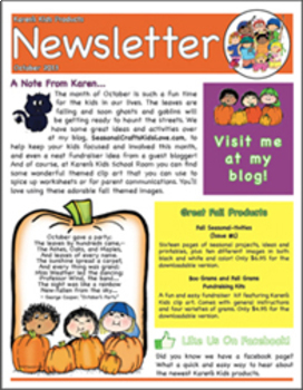 original-910401-1 October Clroom Newsletter Template Generator on
