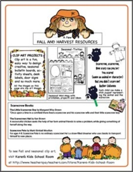 FREE NEWSLETTER October Ideas & Printables