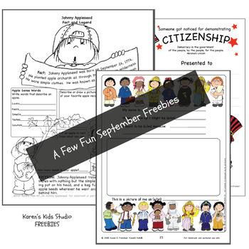 FREE NEWSLETTER September Ideas & Printables Issue 2