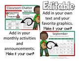 EDITABLE NEWSLETTERS - CALENDARS - EDITABLE - CLASSROOM CHATTER - MONTHLY