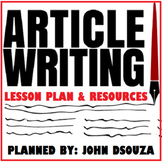 ARTICLE WRITING : LESSON AND RESOURCES