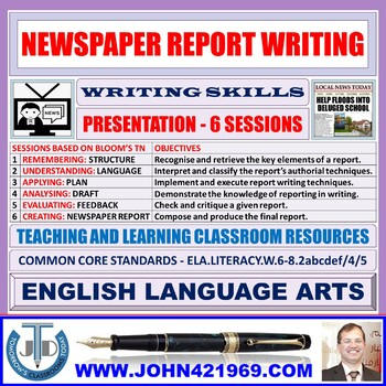 NEWSPAPER REPORT WRITING: UNIT LESSON PRESENTATION