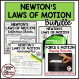 NEWTON'S LAWS OF MOTION BUNDLE! Stations/Reference Sheets/