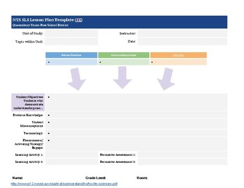 NEXT GENERATION SCIENCE STANDARDS LESSON PLANNING
