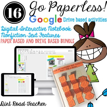 Interactive Notebook ~ Nonfiction Text Features Paper and