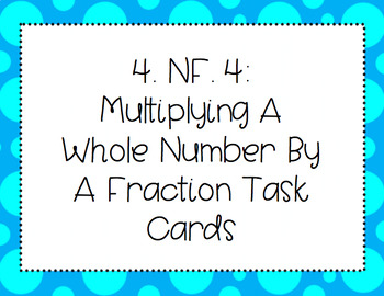 NF.4 Multiplying a whole number by a fraction