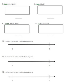 NF.1 NF.2 Fractions: Parts of a Whole and Number Line