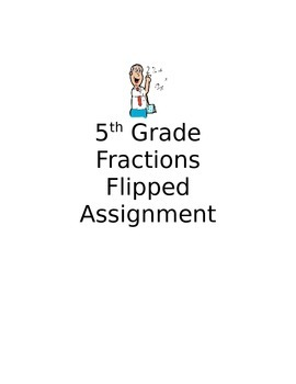 NFB4 5th Grade Fractions Flipped Assignment