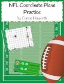 NFL Coordinate Plane Practice