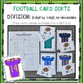 NFL Football Card Sorts: Division (2-digit by 1-digit, no