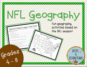 NFL Geography! Fun Geography Activities To Use During Football Season!