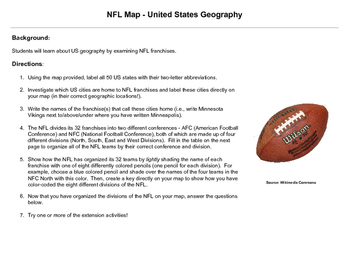 NFL Map - United States Geography