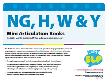 NG, H, W & Y MINI ARTICULATION BOOKS
